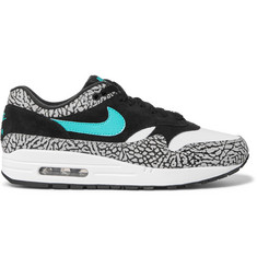 Nike Air Max 1 Premium Retro Leather and Suede Sneakers