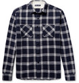 Alex Mill - Checked Brushed-Cotton Flannel Shirt