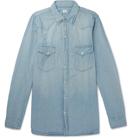 Clearance Store Cheap Price Best Buy Cotton-chambray Western Shirt Jean Shop Popular And Cheap VPuUKW