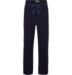 Chimala - Wide-Leg Indigo-Dyed Selvedge Cotton-Canvas Trousers