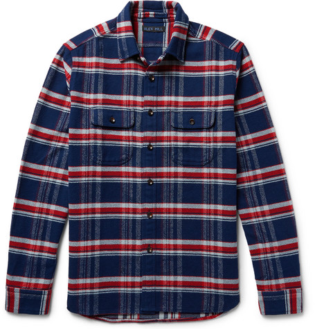 Checked Cotton Shirt by Alex Mill