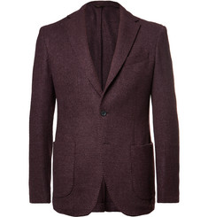 Altea - Burgundy Wool, Silk and Cashmere-Blend Bouclé Blazer
