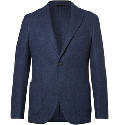 Altea - Blue Bouclé Wool, Silk and Cashmere-Blend Blazer