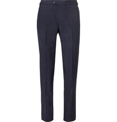 P. Johnson Blue Slim-Fit Tropical Wool Suit Trousers