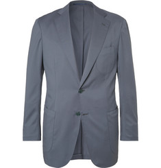 P. Johnson - Light-Blue Slim-Fit Wool-Twill Suit Jacket