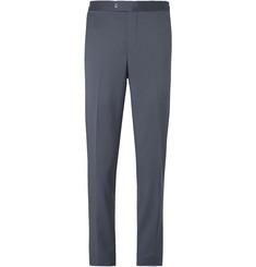 P. Johnson Light-Blue Slim-Fit Wool-Twill Suit Trousers