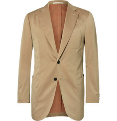P. Johnson Beige Cotton, Wool and Silk-Blend Solaro Suit Jacket