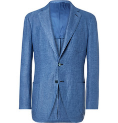 P. Johnson Blue Slim-Fit Linen Blazer