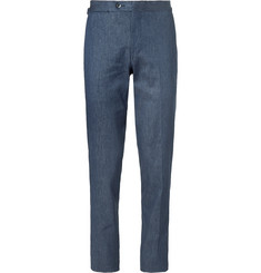 P. Johnson Linen, Cotton and Silk-Blend Trousers