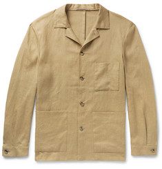 P. Johnson Camp-Collar Linen Overshirt