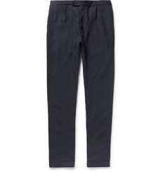 P. Johnson Slim-Fit Linen Drawstring Trousers