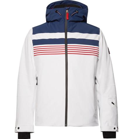 newest f4ead 3f7ef Fire Ice Mendo Striped Ski Jacket in White