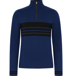 Bogner Fire + Ice Toby Striped Wool-Blend Half-Zip Base Layer