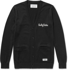 Wacko Maria Embroidered Cotton Cardigan