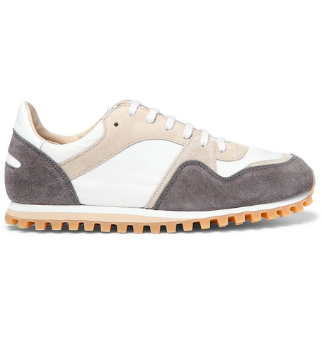 Marathon Trail Suede And Leather Sneakers - BlackSpalwart vJlAS3Ipx