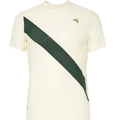 Tracksmith Van Cortlandt Striped Mesh T-Shirt
