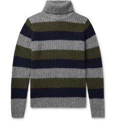 Howlin' Slim-Fit Striped Wool Rollneck Sweater