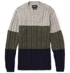 Howlin' Little Larry Colour-Block Wool Sweater