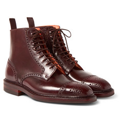 George Cleverley - Toby Cap-Toe Horween Shell Cordovan Leather Brogue Boots