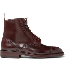George Cleverley Toby Cap-Toe Horween Shell Cordovan Leather Brogue Boots