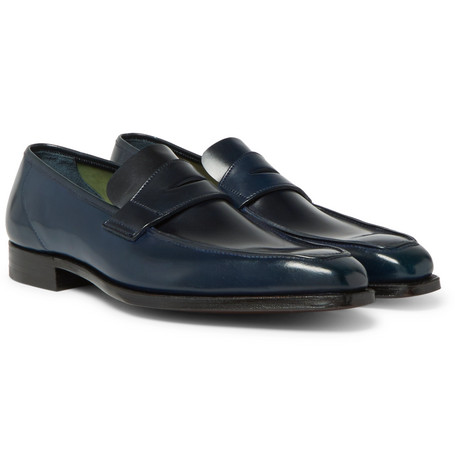 George Cleverley George Horween Shell Cordovan Leather Penny Loafers looking for sale online sale tumblr free shipping cheap Qn6LA7eTxG