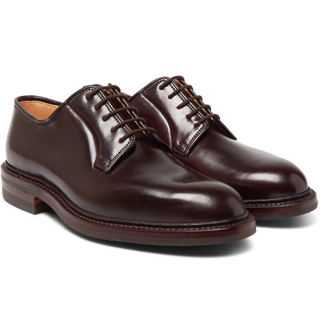 George Cleverley Archie Cordovan Leather Derby Shoes free shipping low shipping shop for online Orange 100% Original buy cheap Manchester U6Cxj