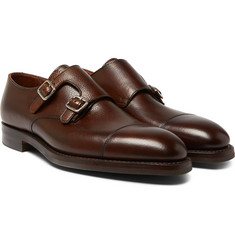 George Cleverley - Thomas Pebble-Grain Leather Monk-Strap Shoes