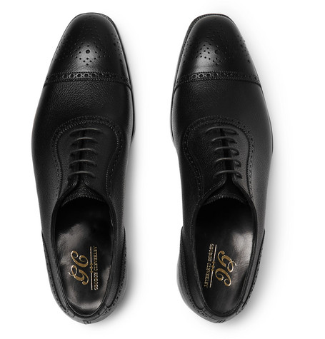 Henry Pebble-grain Leather Wingtip Brogues - BlackGeorge Cleverley bn5GF