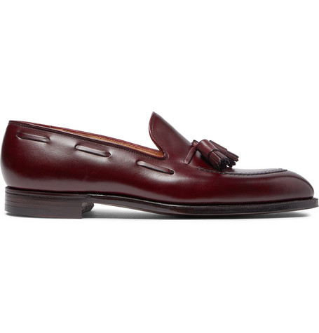 GEORGE CLEVERLEY Adrian Burnished-Leather Loafers
