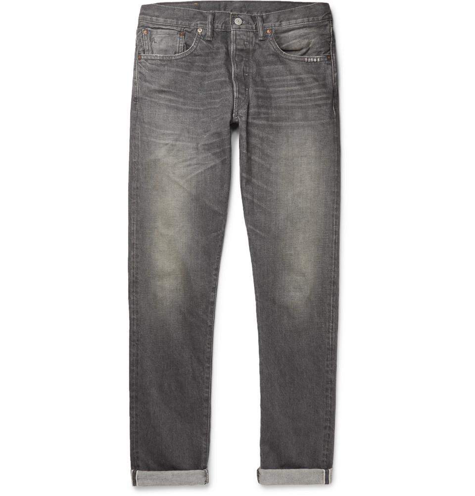 Slim-fit Selvedge Denim Jeans - Blue