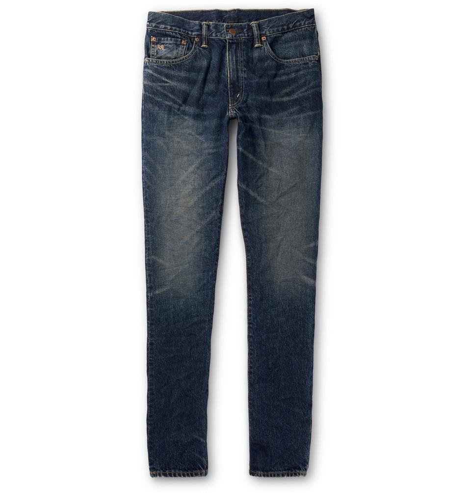 Slim-fit Denim Jeans - Blue