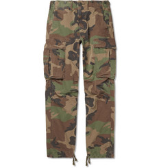 RRL Slim-Fit Camouflage-Print Cotton-Ripstop Cargo Trousers