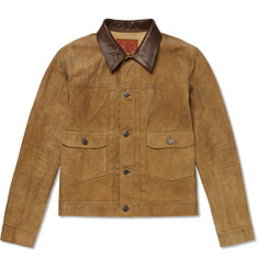 RRL Leather-Trimmed Suede Jacket