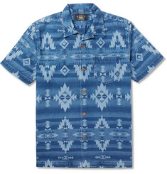 RRL - Aloha Camp-Collar Printed Denim Shirt