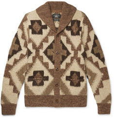 RRL Beacon Shawl-Collar Knitted Cardigan