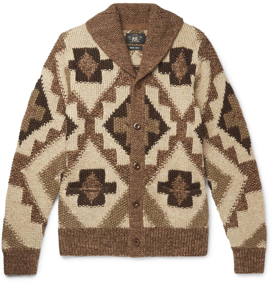 Beacon Shawl-collar Knitted Cardigan - Brown