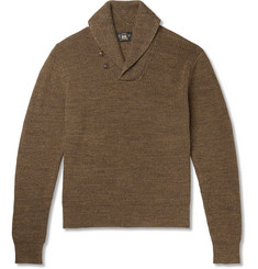 RRL Shawl-Collar Mélange Cotton Sweater