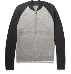 James Perse Cotton, Wool and Cashmere-Blend Zip-Up Sweater