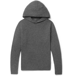 James Perse Ribbed Cashmere Hoodie
