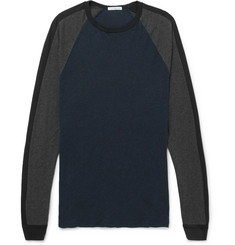 James Perse Colour-Block Cotton-Jersey Sweatshirt