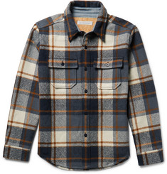Outerknown Highland Blanket Checked Woven Overshirt