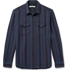 Outerknown Happy Slim-Fit Striped Organic Cotton-Twill Shirt