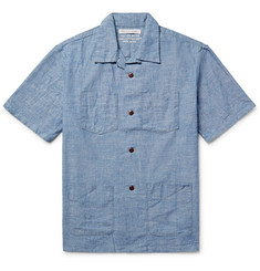 Outerknown Cayman Camp-Collar Cotton-Chambray Shirt