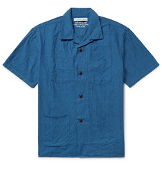 Outerknown Cayman Camp-Collar Cotton-Jacquard Shirt