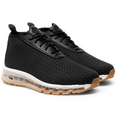 Nike - NikeLab Air Max Faux Leather-Trimmed Woven Sneaker Boots