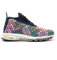 Nike NikeLab Air Max Faux Suede-Trimmed Woven Sneaker Boots