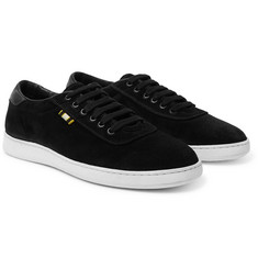 Aprix Leather-Trimmed Suede Sneakers