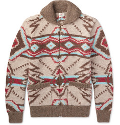 Faherty - Huron Shawl-Collar Wool and Alpaca-Blend Zip-Up Cardigan