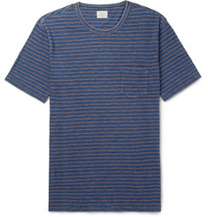 Faherty - Striped Mélange Cotton-Jersey T-Shirt