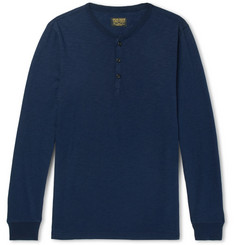 Jean Shop Henry Slub Cotton-Jersey Henley T-Shirt
